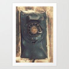 Melted Telephone Art Print