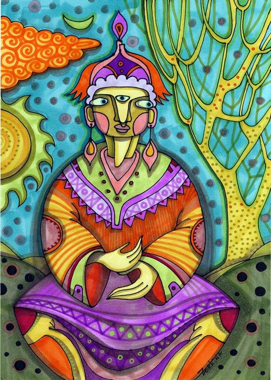 कृष्ण Art Print