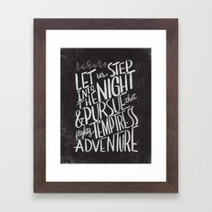 ADVENTURE Framed Art Print