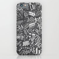 iPhone & iPod Case featuring Typography Pattern by tomekbiernat