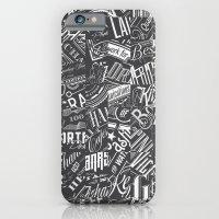 Typography Pattern iPhone 6 Slim Case