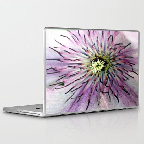 Clematis Heart Macro Laptop & iPad Skin