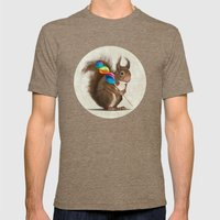 Squirrel with lollipop Mens Fitted Tee Tri-Coffee SMALL