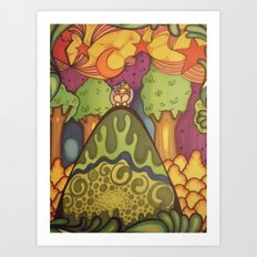 girl on a hill Art Print