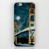 Golden Gate Bridge At Ni… iPhone & iPod Skin
