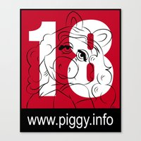 Piggy 18 Canvas Print