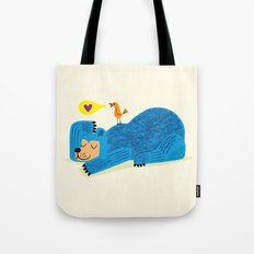 The Bear and The Bird Tote Bag