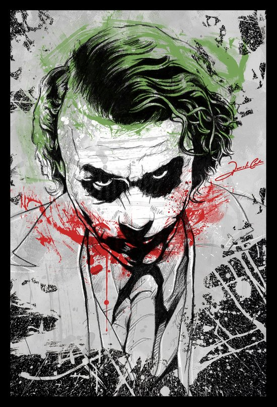 Joker - Heath Ledger Art Print