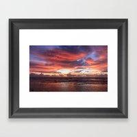 Kapa'a Sunrise Framed Art Print