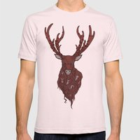 The Stag Mens Fitted Tee Light Pink SMALL