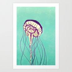 Under the Turquoise Sea Art Print
