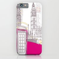 iPhone & iPod Case featuring Lovely London II by bluebutton studio