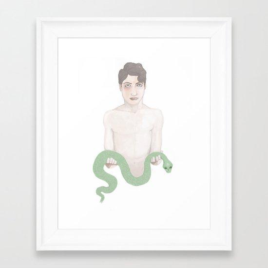 Snake Charmers S2E1 Framed Art Print