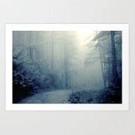 Art Print featuring Wander In A Woodland Fog by Olivia Joy StClaire