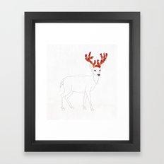 Autumn Deer Framed Art Print