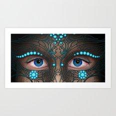 Halloween Mask - Painting Art Print