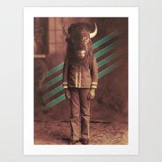 Buffalo Boy Pt 2 Art Print