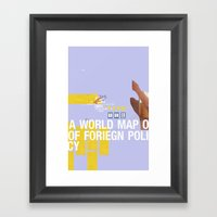 A World Map of Foreign Policy (book jacket cover) Framed Art Print