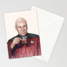 Tea. Earl Grey. Hot. Captain Picard Star Trek | Watercolor Stationery Cards