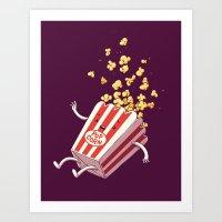 Popcorn Fall Art Print