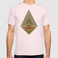 Mountain Mens Fitted Tee Light Pink SMALL