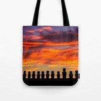 EASTER ISLAND SUNRISE Tote Bag