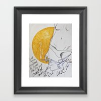 Teenagers Framed Art Print
