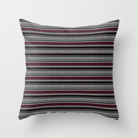 NOMADICK - tribal geometrics Throw Pillow