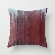 Red Wood Throw Pillow
