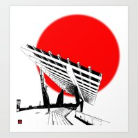 Barna Love Red Sun Art Print