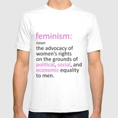 Feminism Defined SMALL Mens Fitted Tee White