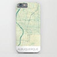 Albuquerque Map Blue Vin… iPhone 6 Slim Case