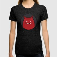 Evil Monster With Pointy… Womens Fitted Tee Tri-Black SMALL