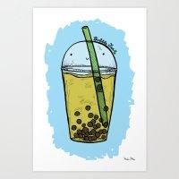 Bubble Tea Art Print
