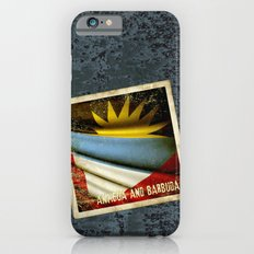 Grunge sticker of Antigua and Barbuda flag iPhone 6s Slim Case
