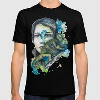 cameleon by carographic Mens Fitted Tee Black SMALL