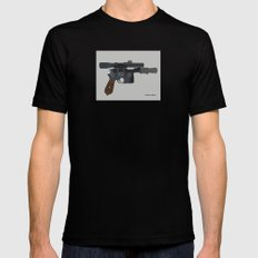 Shoot First. Mens Fitted Tee Black SMALL