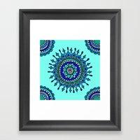 Sea Mandala Framed Art Print