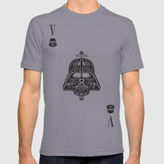 Darth Vader Card Mens Fitted Tee Slate SMALL