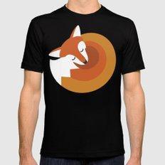 Sleeping Fox Black SMALL Mens Fitted Tee