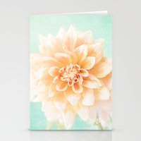 Flower Peachy Bloom Stationery Cards