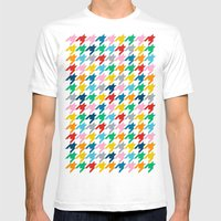 Puppytooth Mens Fitted Tee White SMALL
