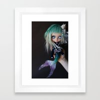 LITTLE MARINERITA SIREN … Framed Art Print