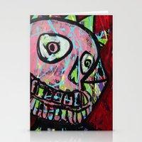 King Skull Stationery Cards