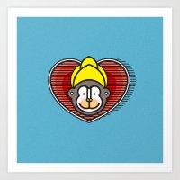Indian Monkey God Icon Art Print