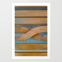 Cross the Wood Art Print