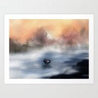 The Lake Of Tranquility Art Print