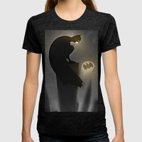 thebatsignal Womens Fitted Tee Tri-Black SMALL