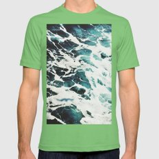 Waves Mens Fitted Tee Grass SMALL