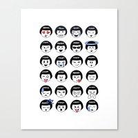 flapper doodle emoji Canvas Print